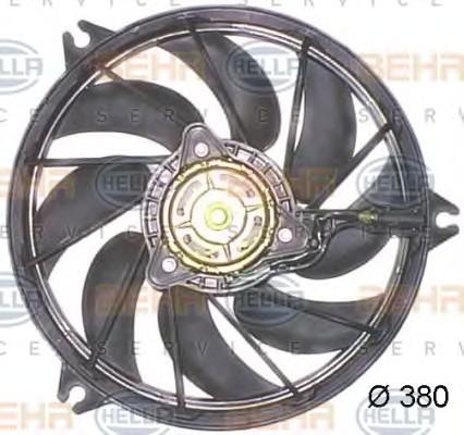 Вентилятор охлаждения двигателя