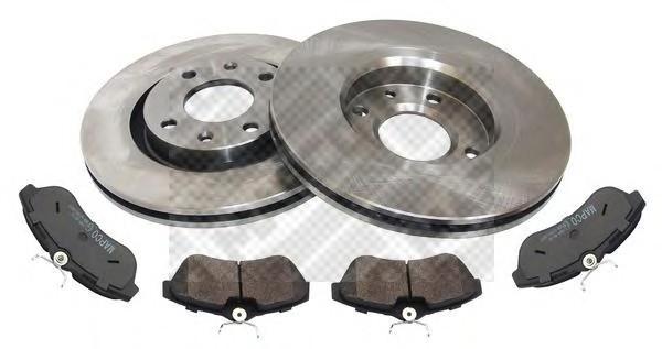 Комплект тормозных дисков и колодок