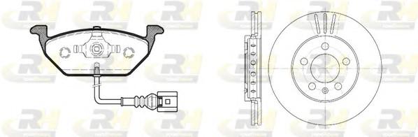 Комплект тормозной диск и колодки