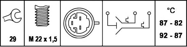 Датчик включения вентилятора